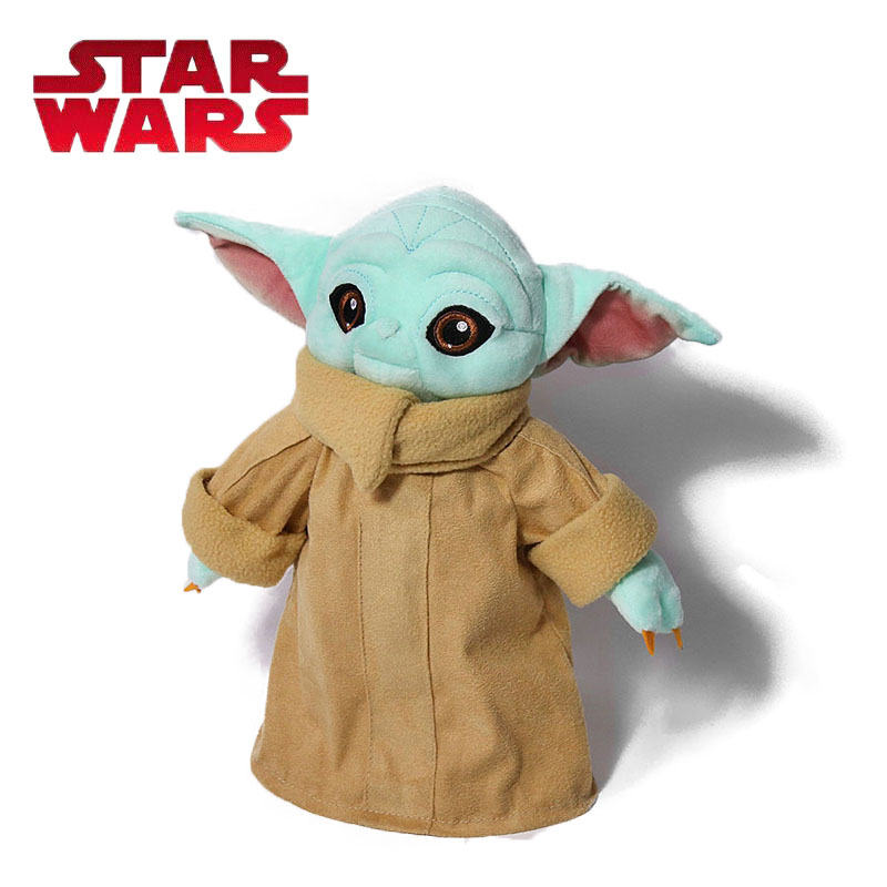Exclusive 30CM Blue Baby Yoda Plush Toy The Child Yoda Plush Pendants Soft Stuffed Animals Dolls Plush Pillow Star Wars Toys
