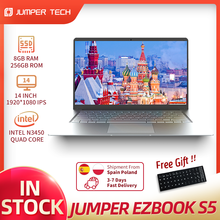 2021 Jumper EZbook S5 8GB 256GB Intel N3450 Ultra Slim Notebook Dual Core Win 10 Laptop 14 Zoll 1920*1080 IPS Bildschirm Computer