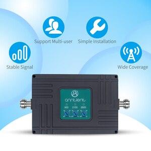 Image 2 - Amplificateur cellulaire répéteur GSM 3G 4G LTE 2600mhz amplificateur de Signal de téléphone portable 2G répéteur GSM 900/2100MHz 70dB bande 7,8, 1 + antenne