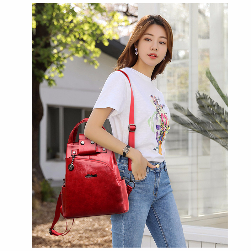 H7bc8dc75b3a747a5977932d94031914fe - Women Leather Backpacks High Quality Sac A Dos Anti-theft Backpack For Girls Preppy School Bags For Girls Casual Daypack