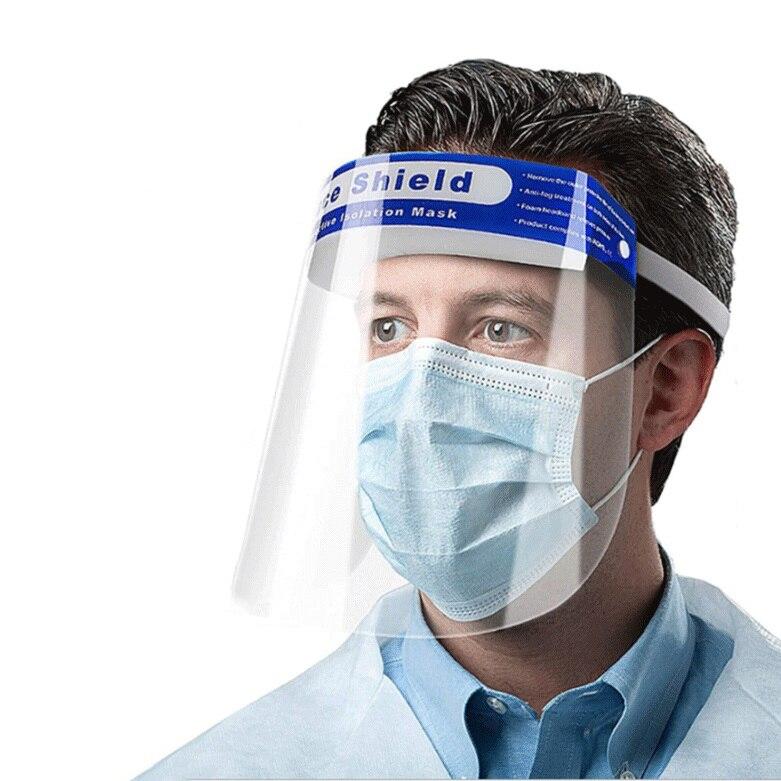 Face Sheild Individual Facemask Anti-fog Anti-droplets Full Transparent Isolation Facemask Masque Reutilisable Mascaras Outdoor