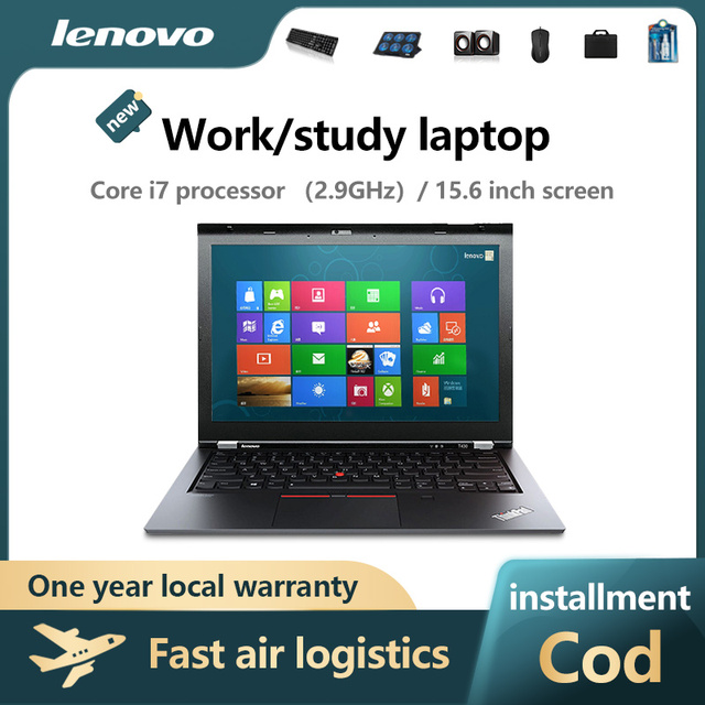 Lenovo Notebook Computer, light and thin portable i3 i5 i7 students office workers hand-held  only show game book play Ga 1