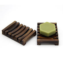 Soap Holder Bathroom Shower Storage Support  Plate Natural Wooden Bamboo Dish Non-Toxic Polyurethane