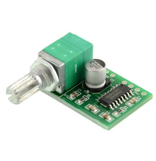 Placa amplificadora de áudio 10 pçs/lote pam8403, 5 v controle de volume do canal/usb potência de energia