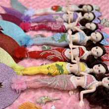 Romantic Mermaid Doll Fashion BJD Ball Jointed Doll Body 1/4 Movable Dolls Toy for Girls Cute Baby Dolls Playmate Christmas Gift