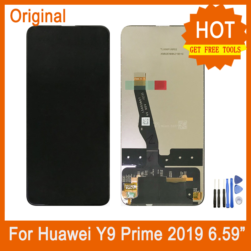 For <font><b>Huawei</b></font> <font><b>Y9</b></font> Prime <font><b>2019</b></font> Touch Screen Digitizer+ Original <font><b>LCD</b></font> Display Assembly Replacement For P Smart Z 6.59