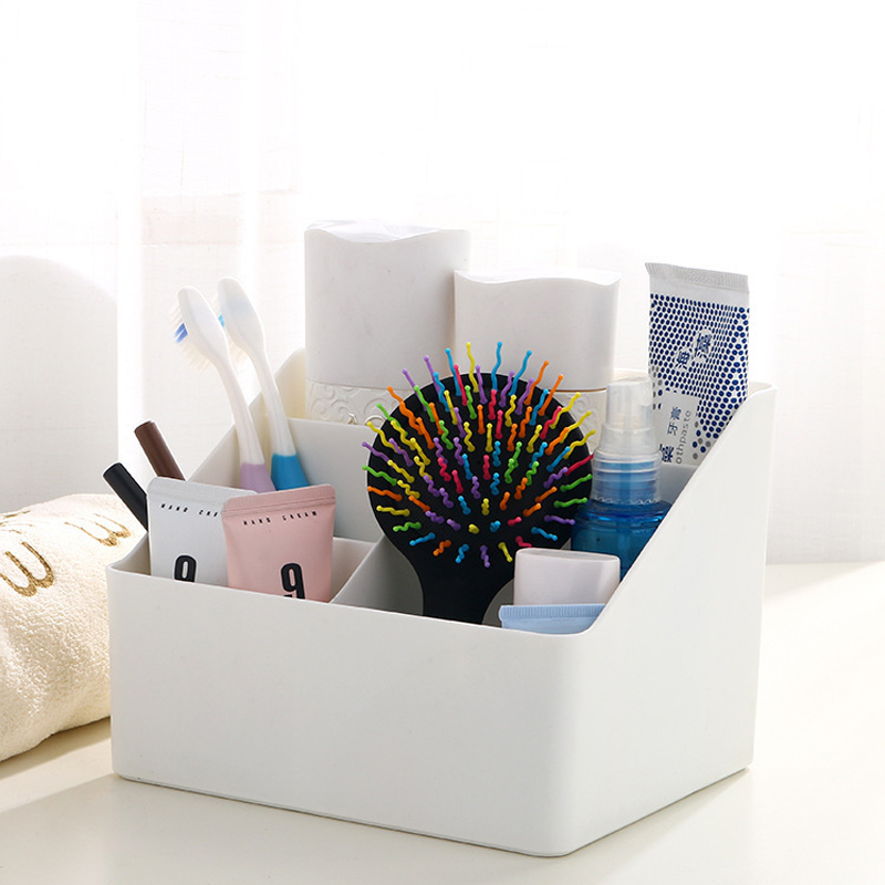 Creative Make Up Organizer Dressing Table Storage Box Makeup Box Desk Debris Organizer Cosmetic Organizer Bathroom Accessories
