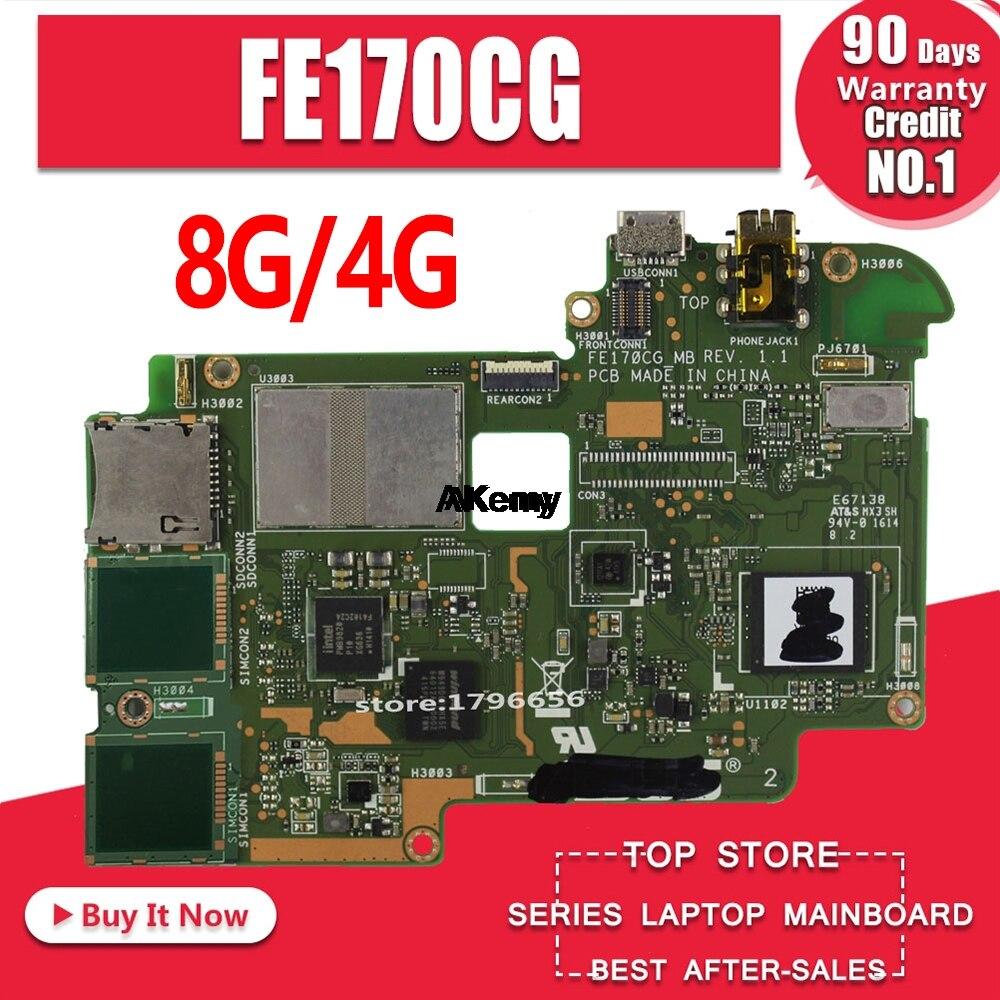100% Test Working FE170C ME70C Motherboard  For ASUS Fonepad 7 FE170CG 8GB 4GB Version Motherboard Logic Board