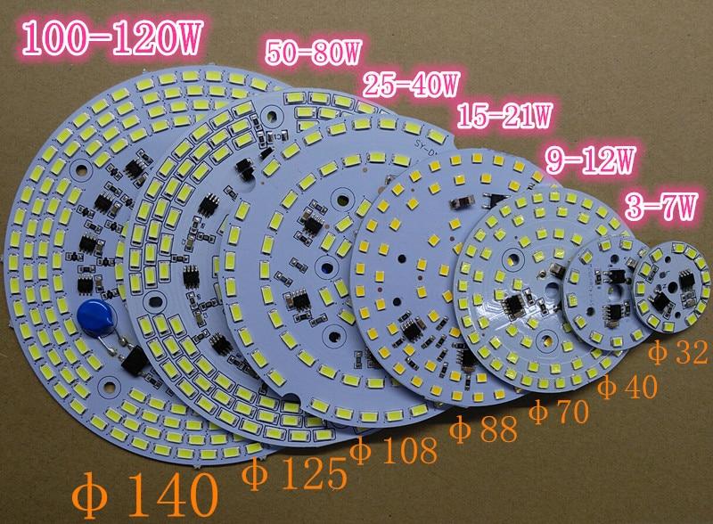 Купить с кэшбэком Driverless Dimmable LED PCB Plate 3W 5W 7W 9W 12W 15W 25W 30W 60W 100W Integrated IC Driver Lamp Panel Down Light