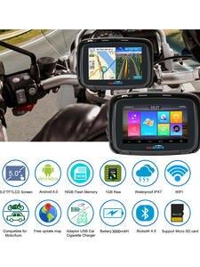 Fodsports GPS Motorbike-Navigator Android-6.0 Waterproof 5inch Ipx7 FM Wifi 3000mah 16G
