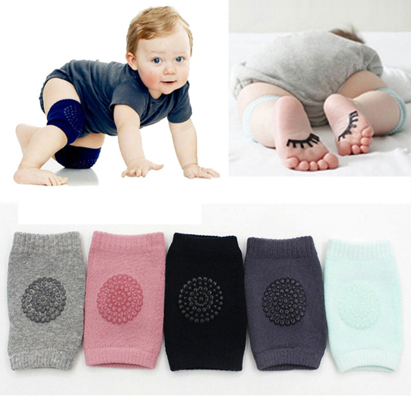 Black Baby Leg Warmers 1 Pair Toddlers Knee Pads Knee Pads Soft Thicken Safety Crawling Well Kids Soft Bow Protectors Coat Thickening