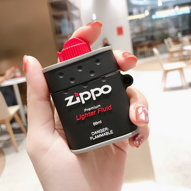 Trend Cool Lighter ZIPPO 3D SOFT Silicone Airpods Nice Gift For Apple Airpods2 Bluetooth Earphone Case