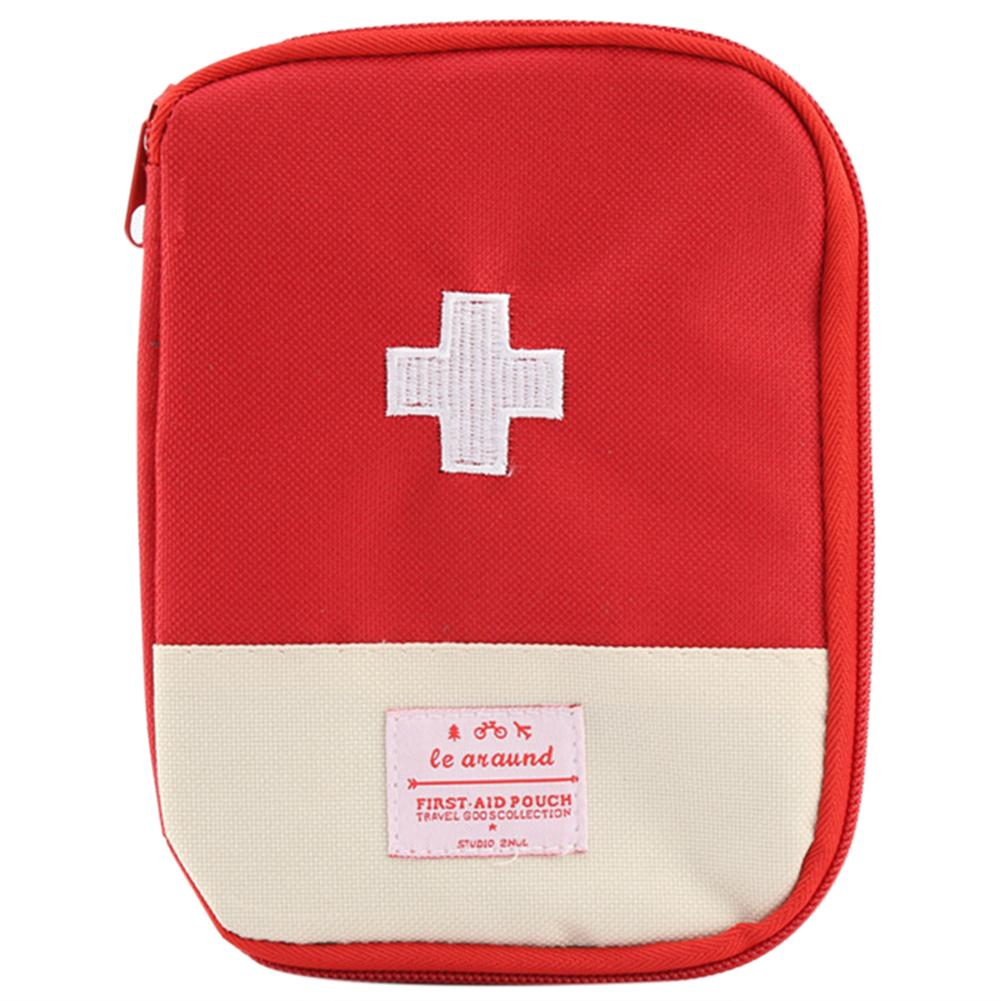 Portable First Aid Emergency Medicine Storage Kit Bag Pill Organizer (Red) Survival Organizer Emergency Kits Package Bag