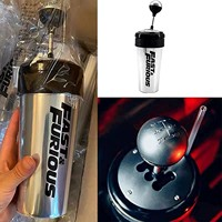 Botella de agua de plástico de alta calidad para coche, pomo de cambio de marchas de carreras de película Fast and Furious 9