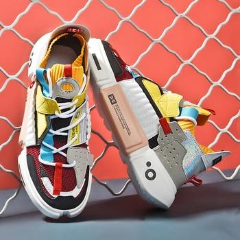 Fashion Colorful Platform Men Casual Shoes Breathable Men Designer Shoes Hip-hop Luxury Brand Couple Sneakers Men Zapatos Hombre fashion colorful platform men casual shoes breathable men designer shoes hip hop luxury brand couple sneakers men zapatos hombre