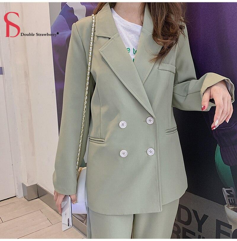 Women's Blazer & Suits Two-piece Loose Korean Fashion Casual Suit Pants Suit Female Autumn Jacket Womens Suits Set 2 Pieces
