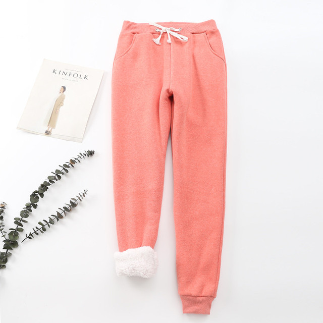 Winter Cashmere Harem Warm Pants Women 2020 Causal trousers Women Warm Thick Lambskin Cashmere Pants Women Loose Pant 6