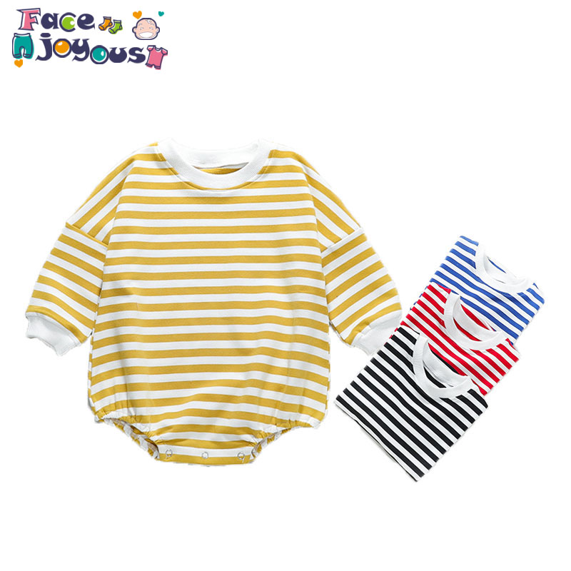 2020 New Spring Autumn Babys Romper Girls Boys Striped Jumpsuit 0-3T Baby Romper Baby Clothes