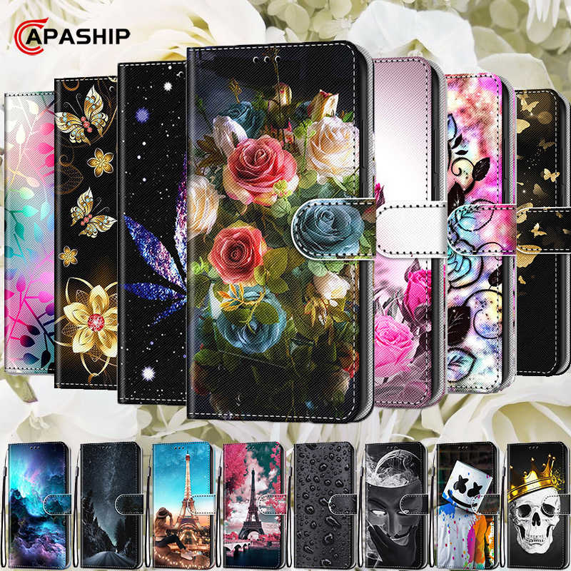 Luxe Retro Bloemen Flip Case Voor Samsung Galaxy Note 10 G530 S5 S6 S7 S8 S9 S10 Plus S10E Cover bloemen Wallet Leather Cases