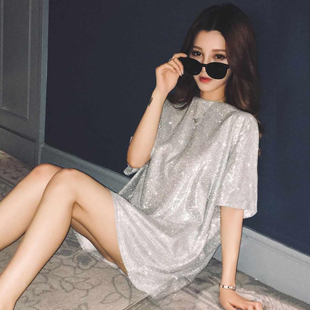 2020 ฤดูร้อน T เสื้อผู้หญิงเสื้อยืด Oversize Casual หลวม Batwing เสื้อแขนสั้นหญิงเงา Pullover เสื้อ PLUS ขนาด