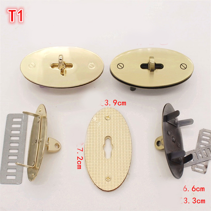 7.5cm Repair Turn Lock Standard Antique Silver Gunmetal Bolsas Bags Handbags Twist Lock Closured Locks Replacement