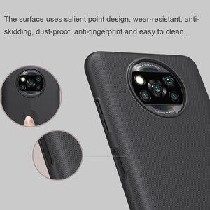 Image 5 - ل شاومي Poco X3 برو حالة Nillkin سوبر متجمد درع الصلب ماتي غطاء ل Poco X3 NFC ساعة مع تصميم نقطة البارزة