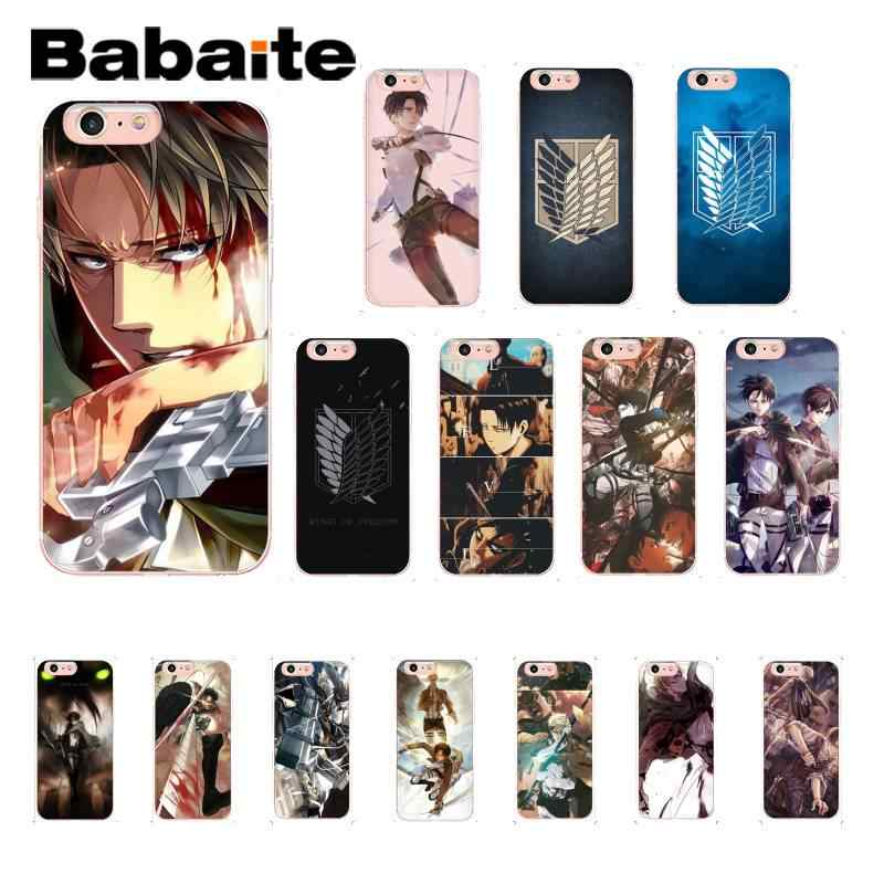 Babaite Anime AttackบนฝาครอบTitan Soft ShellสำหรับiPhone 8 7 6 6S Plus X XS MAX 5 5S SE XR 11 11pro 11Promax