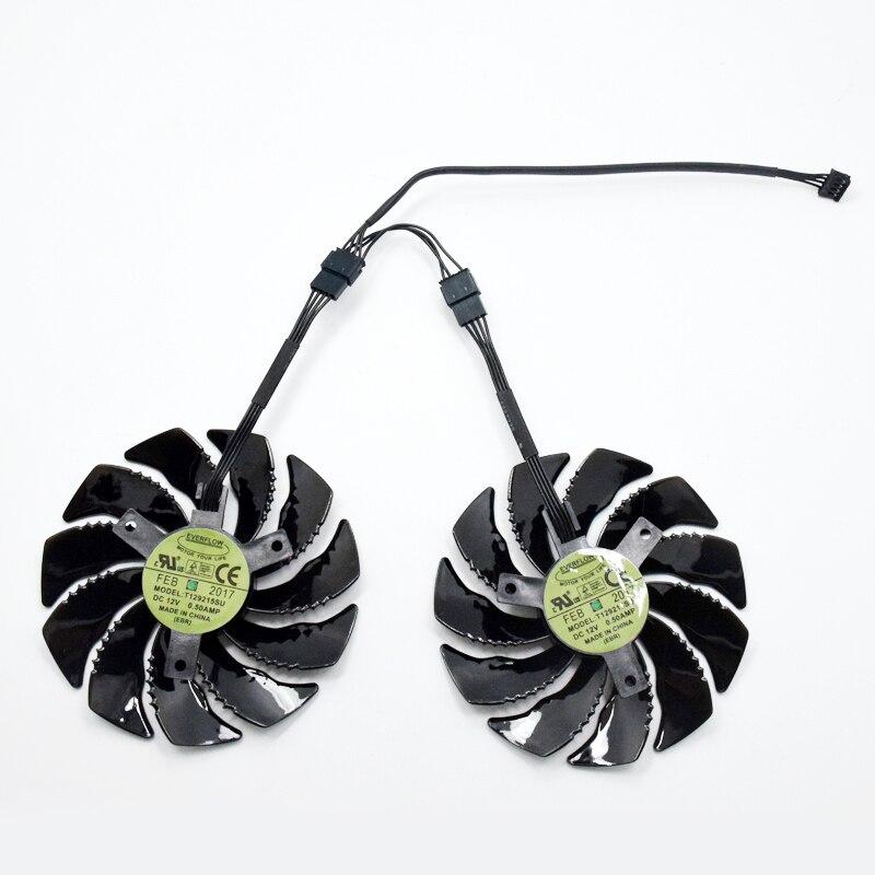 Ventilador ventoinha da placa de vídeo G1, T129215SU 88mm para GIGABYTE GTX1050 Ti 1060 1070 Ti 1080 RX 470 480 570 580 ventilador PLD09210S12HH