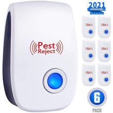 AIRMSEN Ultrasonic Pest Repeller Electronic Mosquito Repellent Mouse Rats Spiders Cockroach Insect Killer Control 2/4/6/8 PCS