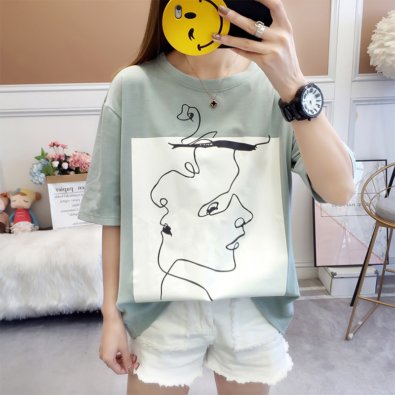 T shirt Women short sleeve With Print White Graphic Tees Women summer Tops For Women 2020 T shirt With Inscription T-Shirts  - AliExpress