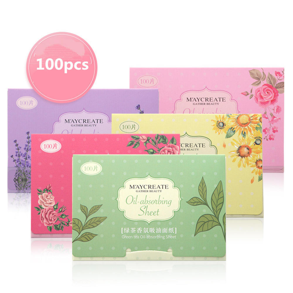 100 sheets/pack Green Tea Facial Oil Blotting Sheets Paper Cleansing Face Oil Control Absorbent Paper Beauty makeup tools
