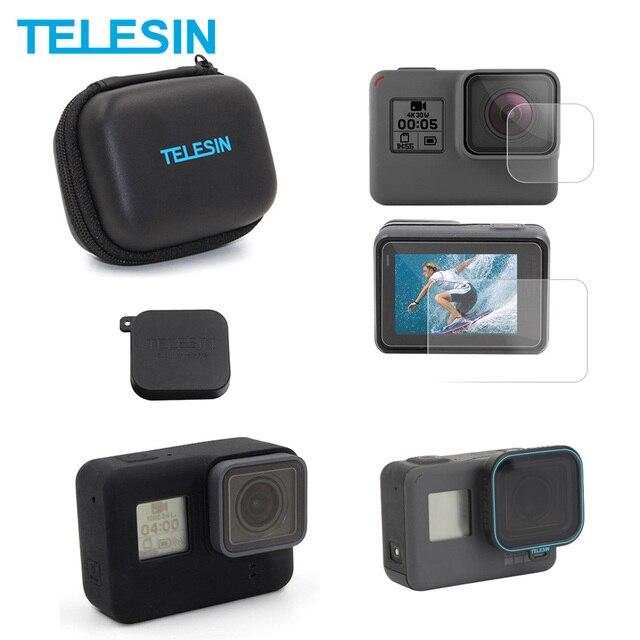 TEELSIN ミニカメラケーススクリーンレンズフィルムレンズカバーフレームケース CPL レンズフィルター 5 パックアクセサリー移動プロヒーロー 7 6 5