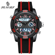 Senors Digital watch Fashion Outdoor Sport Watch Men Multifunction Watches Alarm Clock Chrono 3Bar Waterproof reloj hombre cheap Alloy 24cm Fashion Casual Buckle ROUND 22mm 15mm Hardlex Stop Watch Back Light Chronograph Complete Calendar Multiple Time Zone