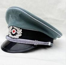 Tomwang 2012. Casquette à visière en laine, chapeau d'officier de l'armée allemande de la seconde guerre mondiale