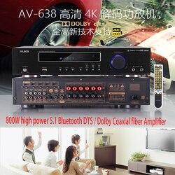 KYYSLB 500 W/600 W 220V 5.1 wzmacniacz bluetooth domu wysokiej mocy profesjonalny wzmacniacz cyfrowy DTS Dolby HD dekodowania wzmacniacz