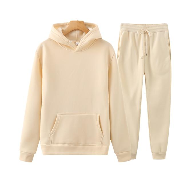 Ladies Suit Hoodie + Pants Fall/Winter Hooded Sweatshirt Sweatpants Fashion Slender Ladies Suit Hoodie Pants Pullover Hoodie 3
