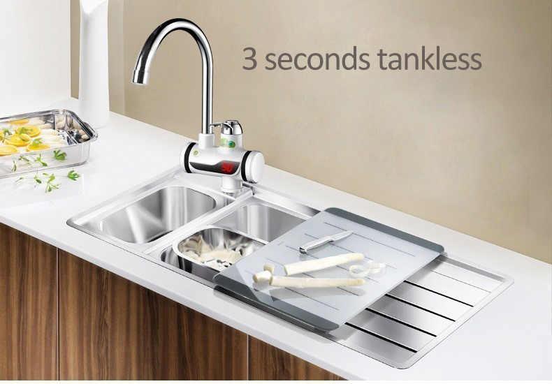 3000W riscaldatore di acqua istante elettrico rubinetto della cucina/bagno di acqua calda del rubinetto riscaldamento tankless-acqua-riscaldatore con doccia