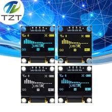 10 Uds color azul blanco 0,96 pulgadas 128X64 Módulo de pantalla OLED azul amarillo Módulo de pantalla OLED para arduino 0,96 CII comunicación SPI