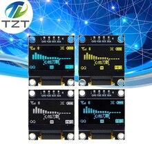 10 pçs branco cor azul 0.96 polegada 128x64 oled módulo de exibição amarelo azul oled módulo de exibição para arduino 0.96 iic spi comunicar