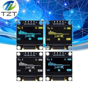 Image 1 - 10 pièces couleur bleu blanc 0.96 pouces 128X64 Module daffichage OLED jaune bleu Module daffichage OLED pour arduino 0.96 IIC SPI communiquer