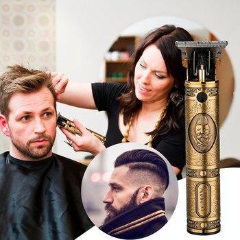 Cortadora De pelo recargable, potente máquina De corte, peine, cortador De pelo, podadora De pelo, máquina De peinado para el hogar