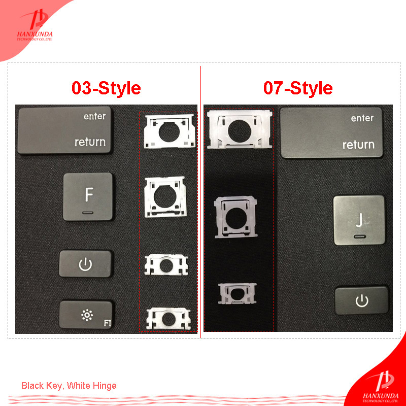 New Replacement US UK Layout Keyboard Keys For Macbook Pro Retina 13 Inch A1425 A1502 With One Black Key Cap And One White Clip