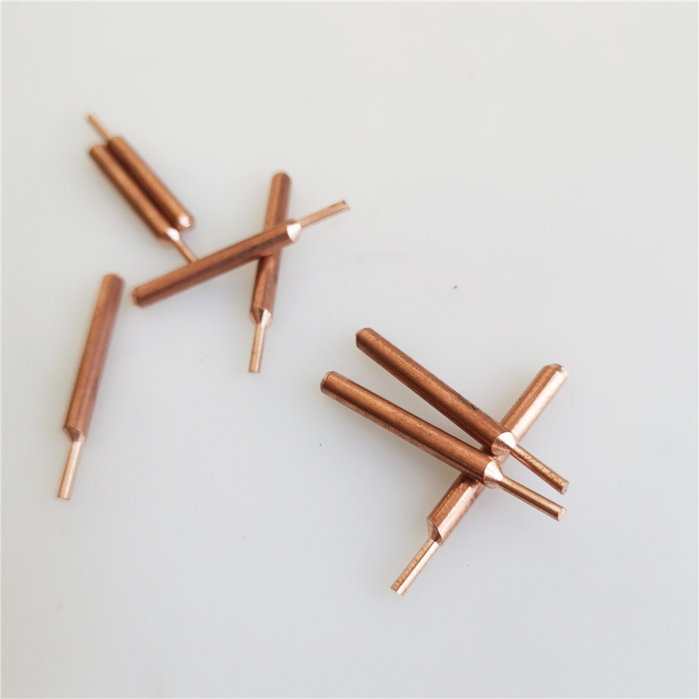 8PCS Welding Needle Aluminum Oxide Copper 3mm Eccentric Rod Welding Machine Welding Pen  Brazing Battery Special Nickel Plate