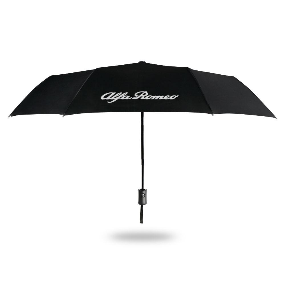 Totalmente automático compacto dobrável guarda-chuva para alfa romeo giulia 147 156 159 mito stelvio q4 4c sportiva giulietta acessórios do carro