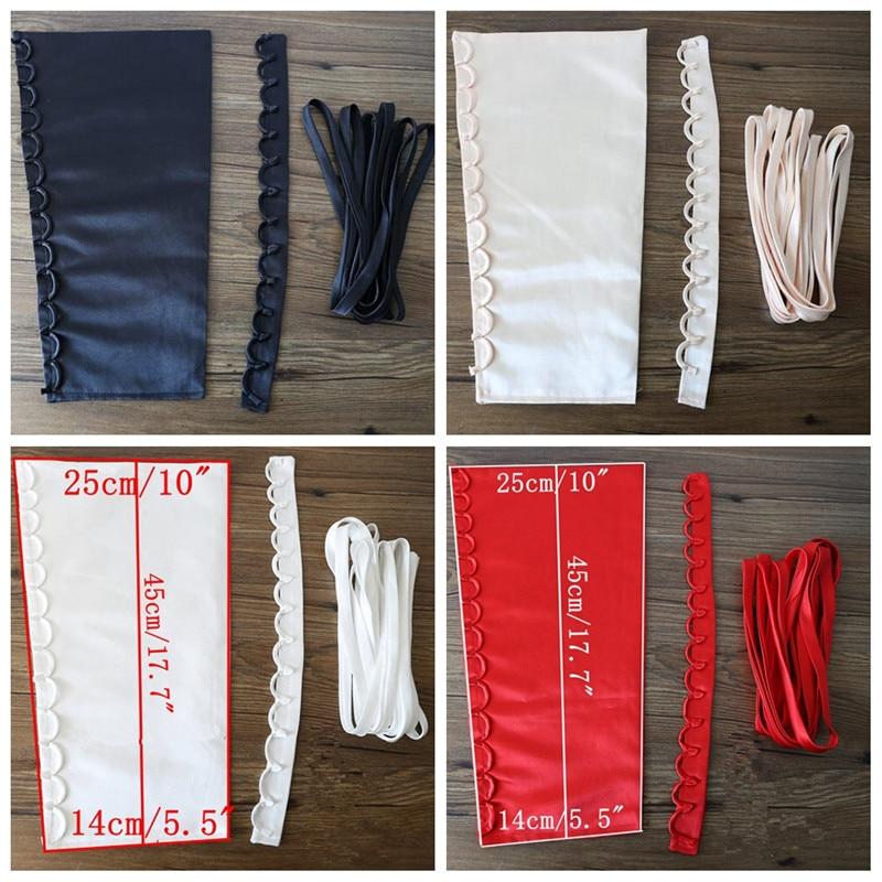 3pcs/1Set Satin Corset Kit Zipper Replacement Wedding Gown Colors Back Lace Up Dress Wedding Accessories TJM9221