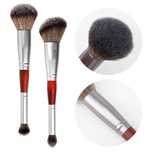Get more info on the YALIAO Double-head Foundation Brushes Powder Eyeshadow Blush Brushes Professional Face Makeup Tool Wood Handle Pincel Maquiagem