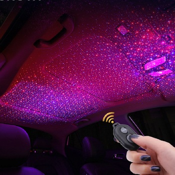 Car interior atmosphere lamp roof lamp manufacturer Car armrest box starry sky music atmosphere lamp gift decoration lamp цена 2017