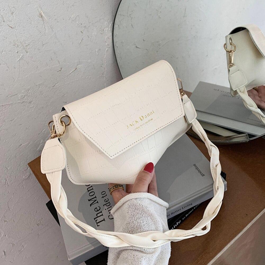 Bolso de mano con patrón de cocodrilo para mujer, bandolera tejido, Retro, de piel, con forma Irregular, para axilas, portátil, para viaje