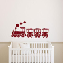 Cartoon Train Pattern Cute Wall Sticker Vinyl Home Decor For Kids Room Bedroom Nursery Decals Palyroom Murals Removable 3680 цена