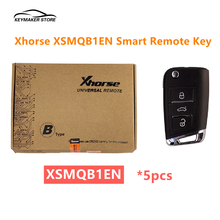 5 шт./лот высокое качество Xhorse XSMQB1EN умный дистанционный ключ MQB Filp 3 кнопки ближнего использования для VVDI Ключевого инструмента для VVDI Mini Key Tool